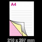 A4 Doordruksets - Los 3voudig