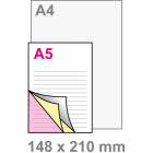 A5 Doordruksets - Los 3voudig