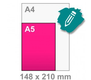 A5 Flyer ontwerpen - staand