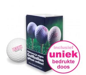 Golfballen Giftset - 2 stuks inclusief doosje