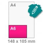 A6 Kaart maken - liggend