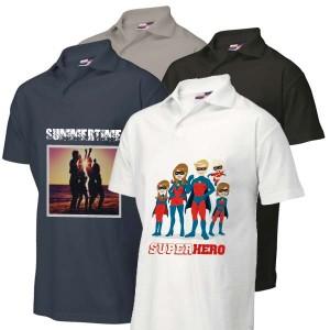 Poloshirt bedrukken: Voor- en achterkant