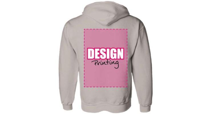 hoodie bedrukken: achterkant - designprinting