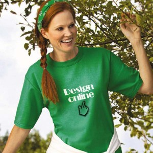 Dames T-shirt bedrukken: Voorkant op de borst