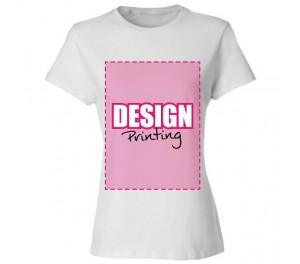 Dames T-shirt bedrukken: Voorkant