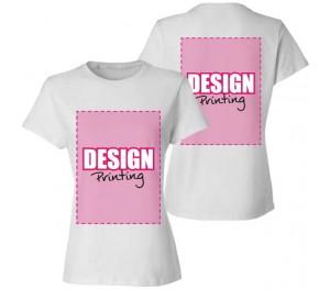 Dames T-shirt bedrukken: Voor- en achterkant