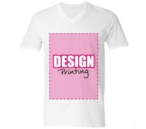 T-shirt V-hals bedrukken: Voorkant