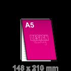 A5 Notitieblok bedrukken - met dekblad