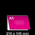 A5 Notitieblok bedrukken - met dekblad liggend