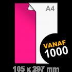 A5 lang Sticker drukken