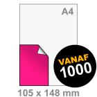 A6 Sticker drukken