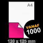 Sticker drukken 120x125 mm