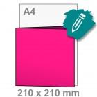 Uitnodiging maken - vierkant 210x210 mm